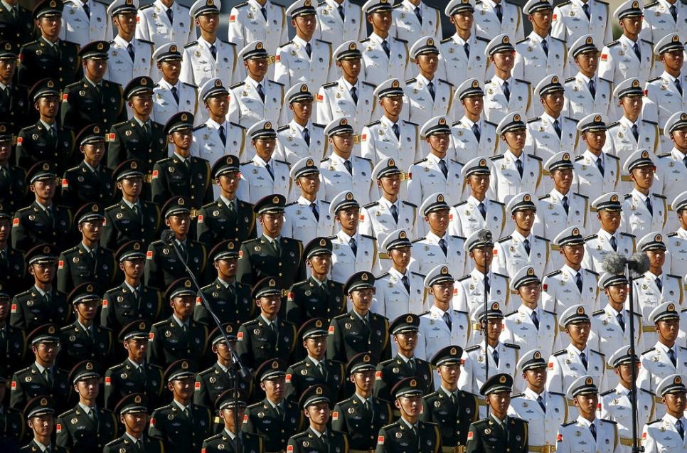 Китайский военный хор в Пекине