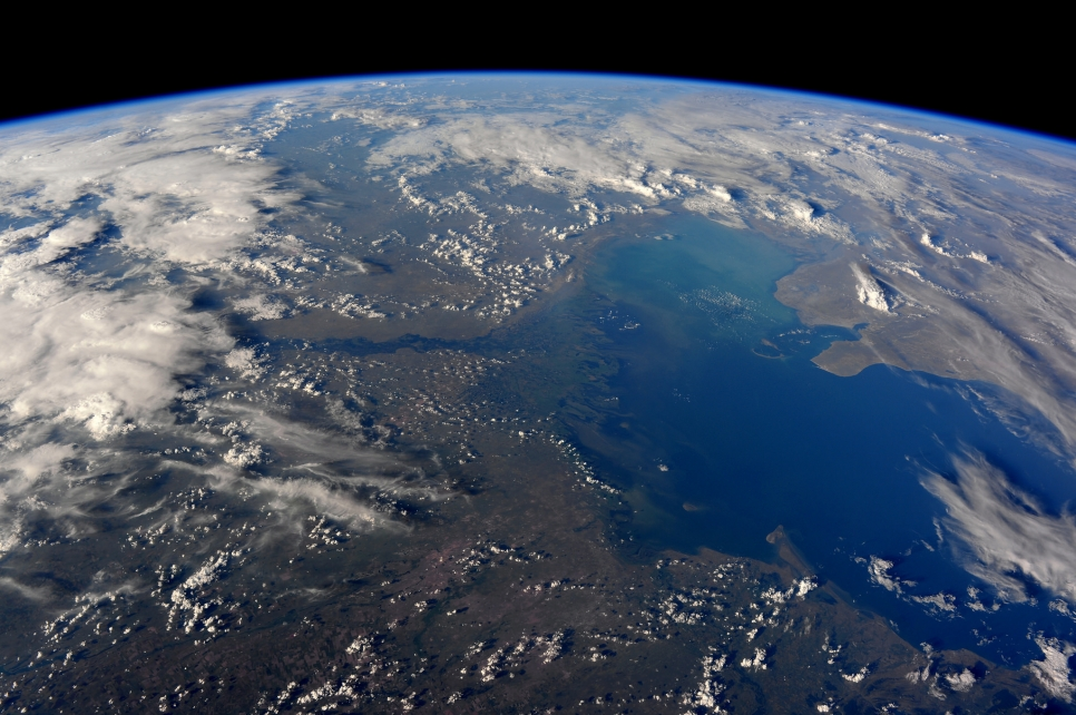 Волга и Каспийское море