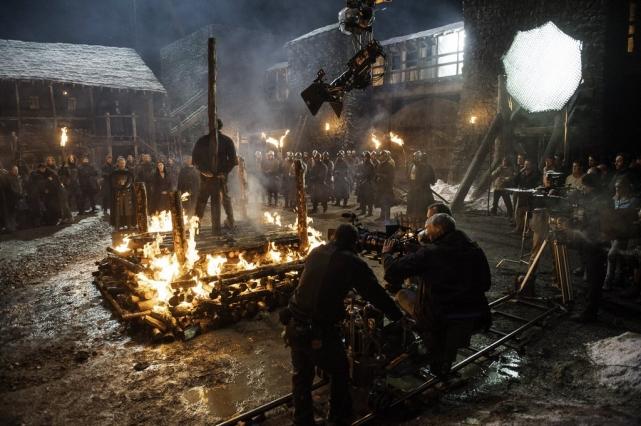 Съемки первого эпизода пятого сезона – «Сражения приближаются».