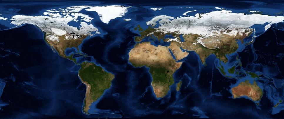 Карта снежного покрова Земли