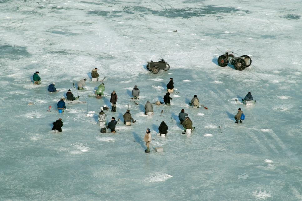 Зимняя рыбалка на Волге, Республика Татарстан