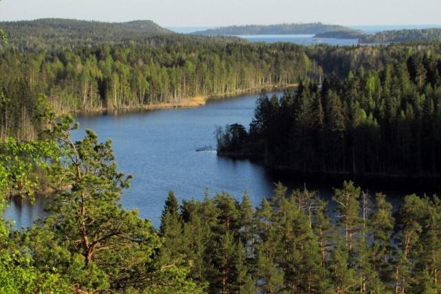 Вид на Ладожские шхеры (вдалеке) с купюры 500 финских марок