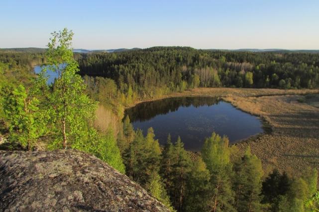 Вид на второе озеро