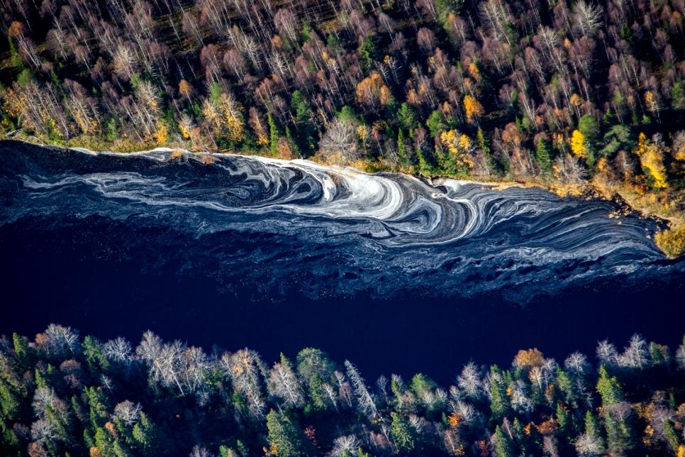 Замерзсшая река, Архангельская область