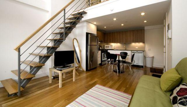 Двухэтажная квартира в Бруклине, США