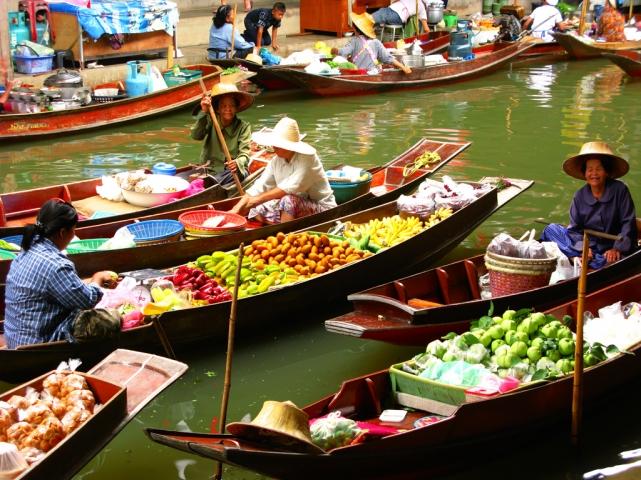 Плавучий рынок Тайланд  Picture of Thailand Asia